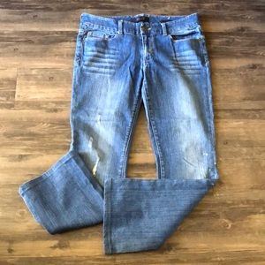 Seven7 Bootcut Distressed Jeans size 10